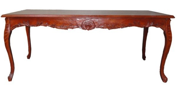 Casa Padrino table à manger baroque Mahogany Brun 160cm - table à manger - meubles de style antique