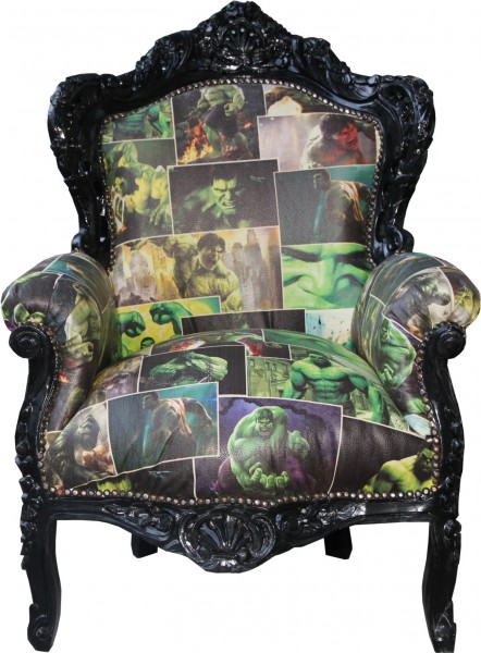 Casa Padrino Baroque Fauteuil Design Dessin Roi Cuir Noir Meubles De Style Antique Regard
