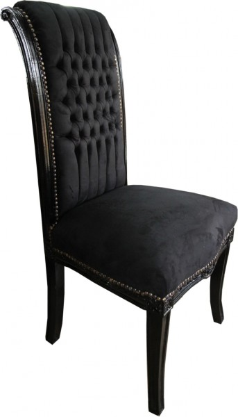 casa padrino baroque chaise haute pour table arri re noir noir meubles de haute fauteuil. Black Bedroom Furniture Sets. Home Design Ideas