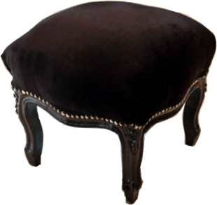 casa padrino baroque ottoman noir noir meubles antiques tabouret. Black Bedroom Furniture Sets. Home Design Ideas