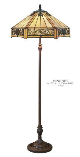Casa Lampe casa padrino tiffany sol hauteur de la lampe 170 cm, diamètre de l