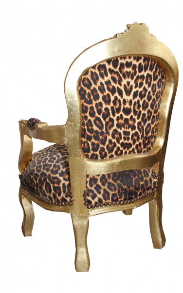 casa padrino baroque chaise leopard or fauteuil meubles antiques. Black Bedroom Furniture Sets. Home Design Ideas