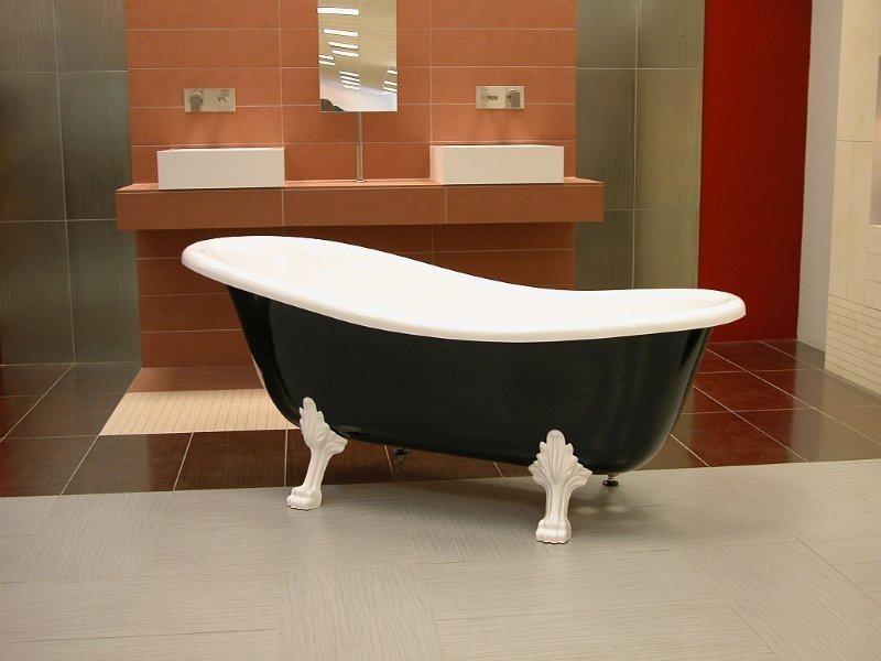 Luxe pavillon bain art nouveau roma noir blanc blanc 1470mm baroque antique salle de bains for Salle de bain art nouveau