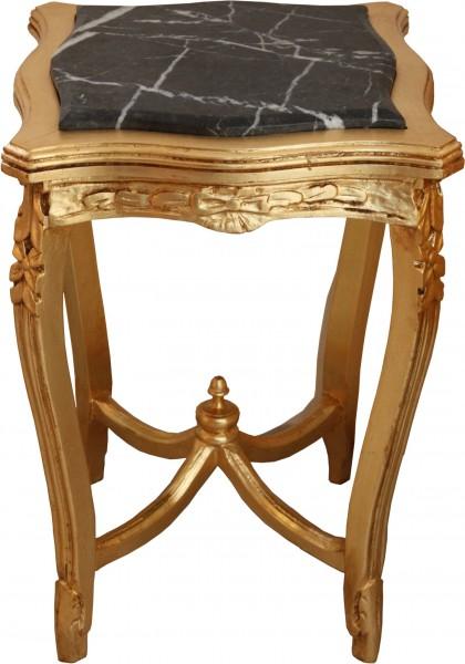 Table Casa Padrino Baroque Avec Dessus En Marbre Gold Square Mod W20
