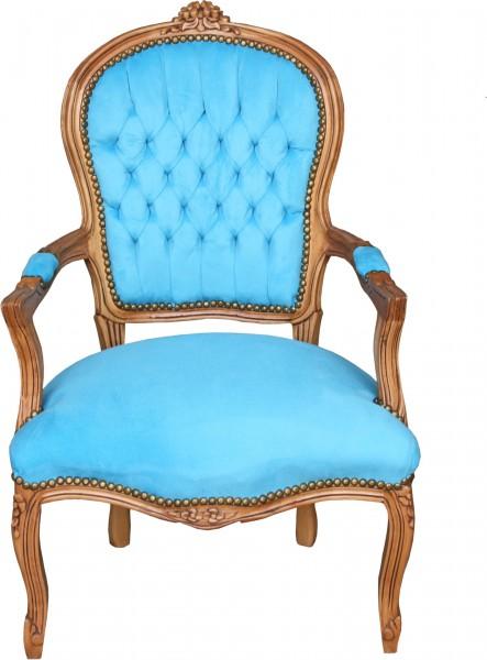 Chaise Bois Padrino Clair Casa Salon Bleu Baroque OX0P8nkNw