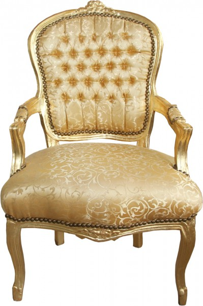 Casa Padrino baroque chaise salon or motif or mobilier baroque