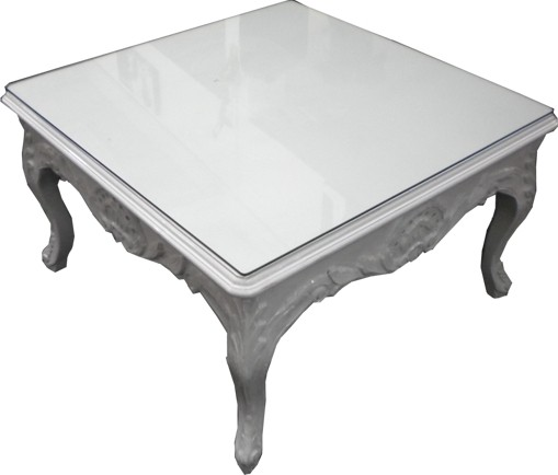 casa padrino table basse baroque blanc 80 x 80 cm table. Black Bedroom Furniture Sets. Home Design Ideas